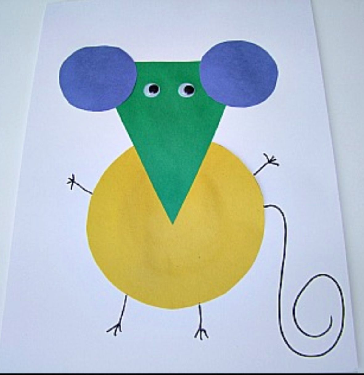 Animals crafts for preschoolers - If You Take A Mouse To School Shape Mouse Craft