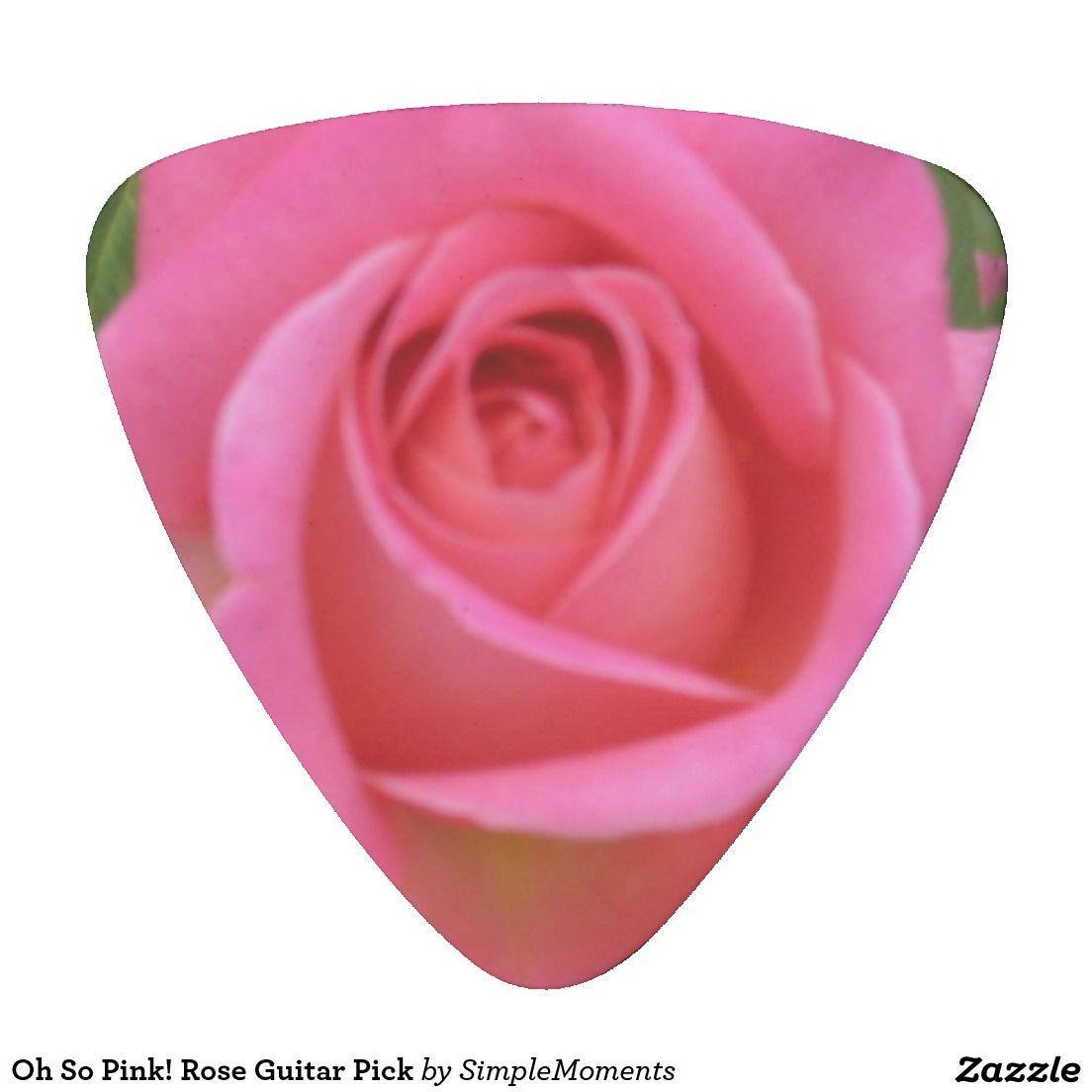 Oh So Pink! Rose Guitar Pick | Guitar picks, Pink roses and Guitars