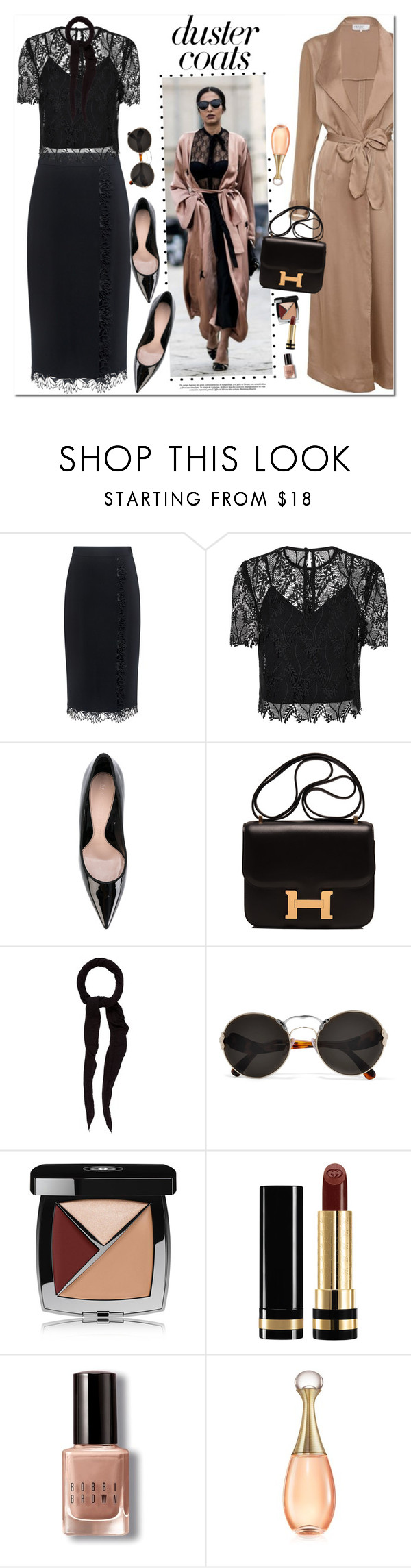 """""""Duster Coats"""" by oshint ❤ liked on Polyvore featuring A.L.C., Diane Von Furstenberg, Alexander McQueen, Hermès, Faliero Sarti, Prada, Chanel, Gucci, Bobbi Brown Cosmetics and Christian Dior"""