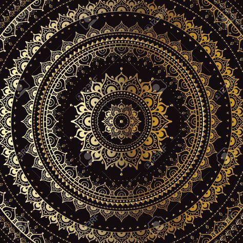 Stock Photo Mandala Fond D Ecran Mandala Mandala Fond Noir