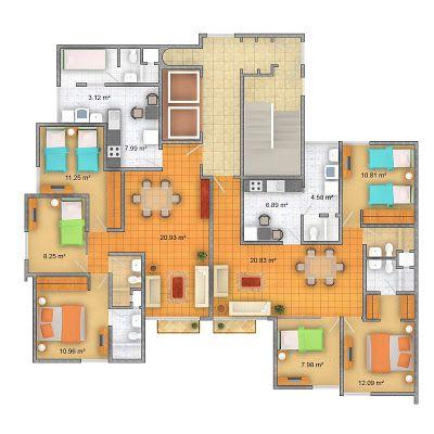 Departamentos en pueblo libre planos de casas gratis y for Departamentos en planos