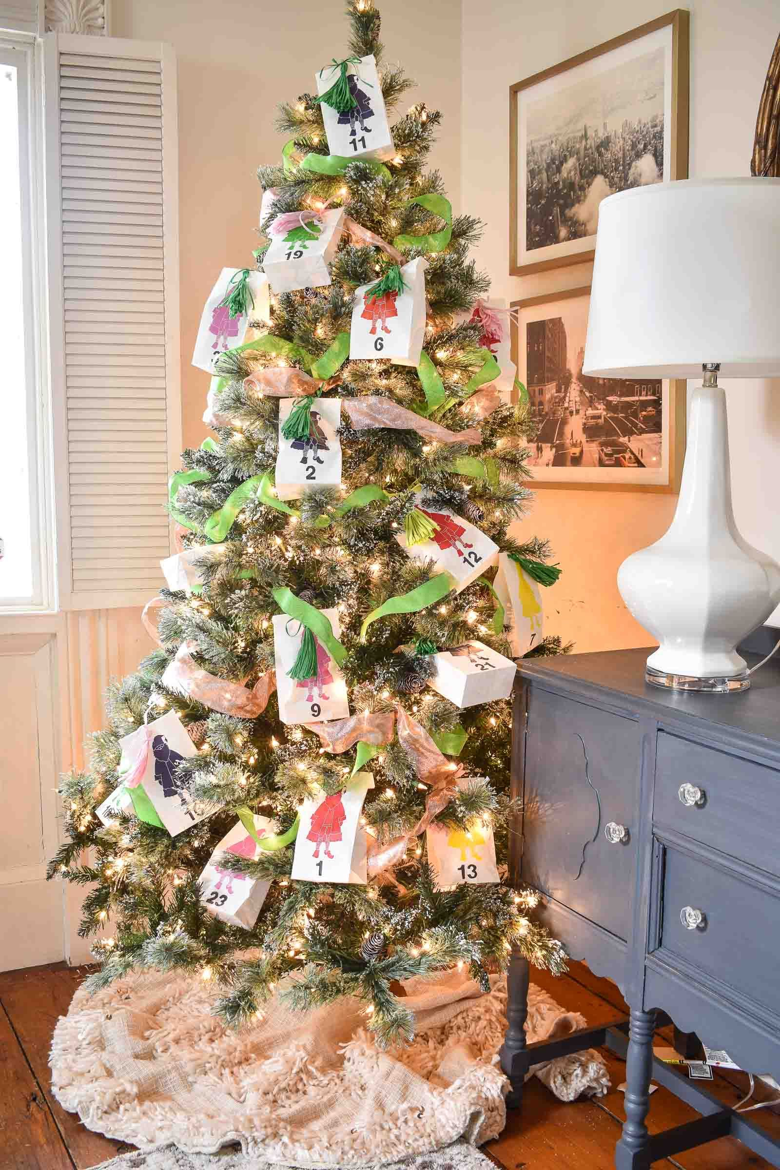 This Advent Calendar Christmas Tree Is So Easy To Set Up And It S One Of My Kids Favorite Thi Christmas Advent Diy Christmas Ornaments Christmas Tree Ornaments