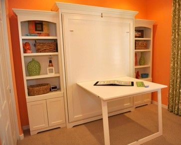 Interesting folding table idea make the wall function in as many ways possible to murphy bed also