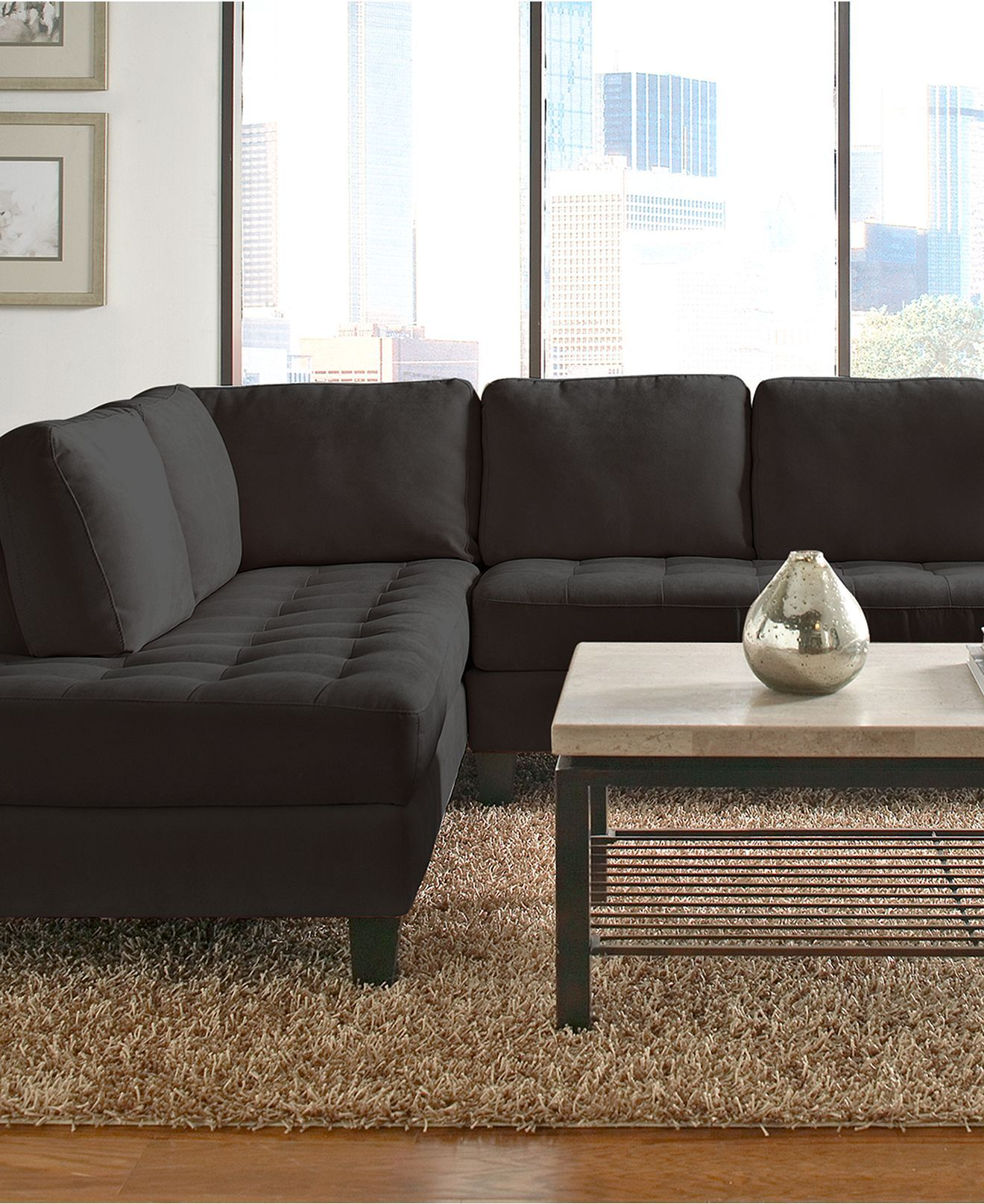 Milo Fabric Sectional Living Room Furniture Collection furniture
