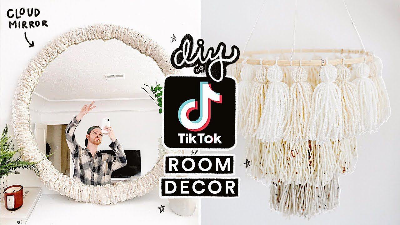 RECREATING VIRAL TIK TOK DIY ROOM DECOR ☁️ Cloud Mirror