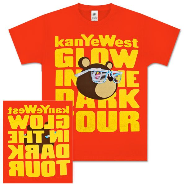Kanye West Red Glow Bear T Shirt The Shirt List Bear T Shirt Kanye West Shirt Kanye West
