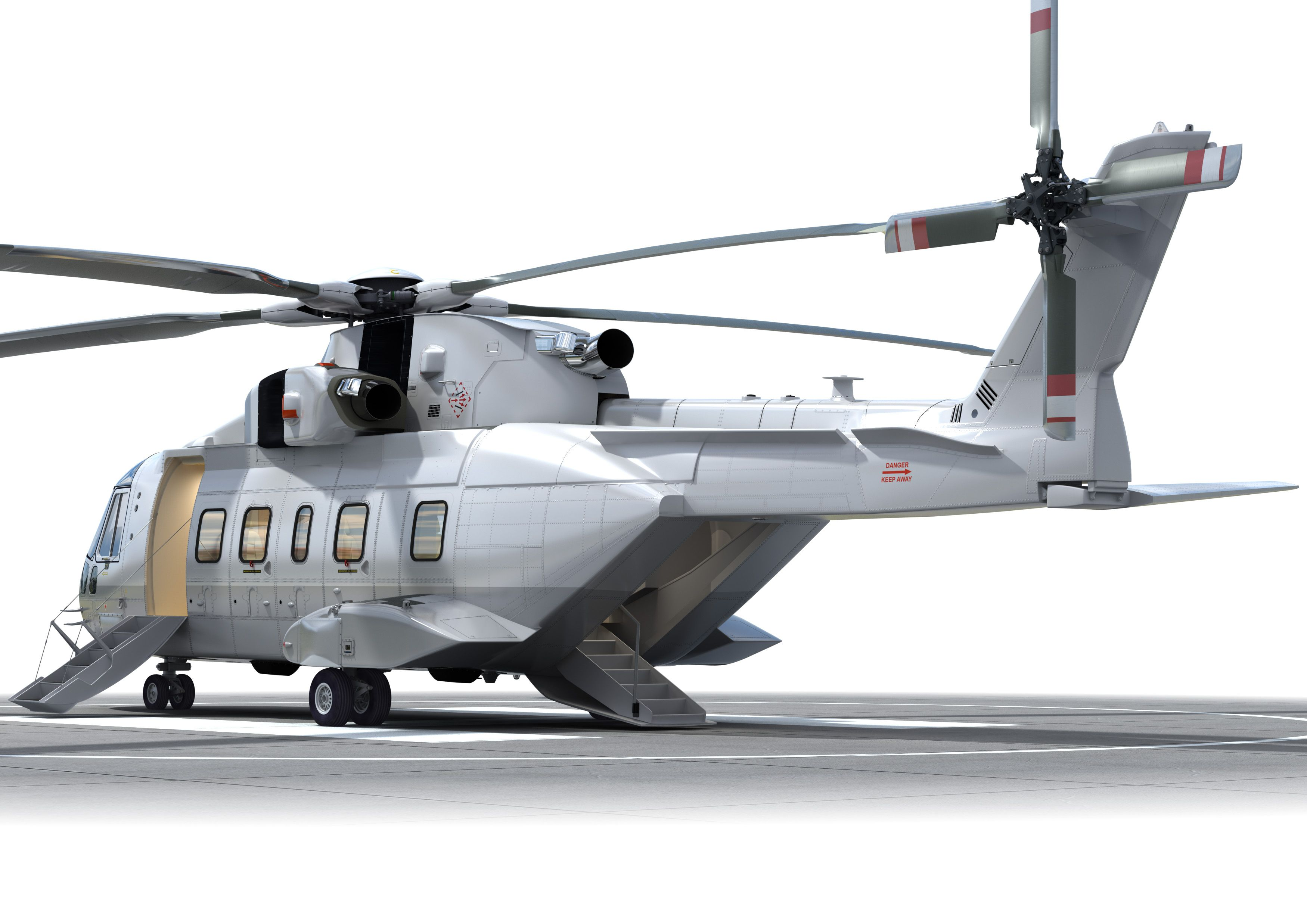 AgustaWestland AW101 VVIP with famous Rear Airstair Door...