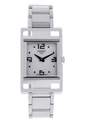 Women's T-Square Mother of Pearl Dial Stainless Steel