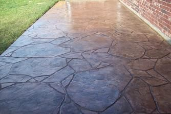Charmant Stained Stamped Concrete | Stamped Concrete League City Patio Decks, League  City, Concrete Patios