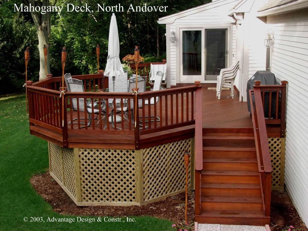 Best Mahogany Deck In North Andover Ma Mahogany Decking Deck Railing Design Wood Deck 400 x 300