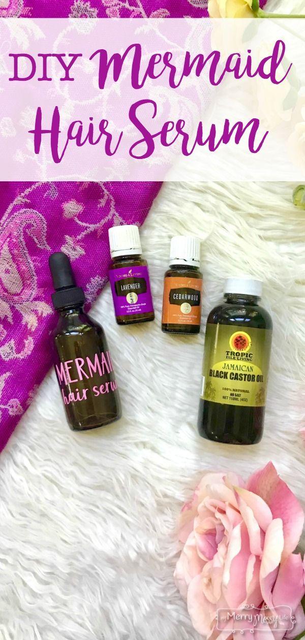 Mermaid DIY Hair Serum Recipe with Essential Oils Diy