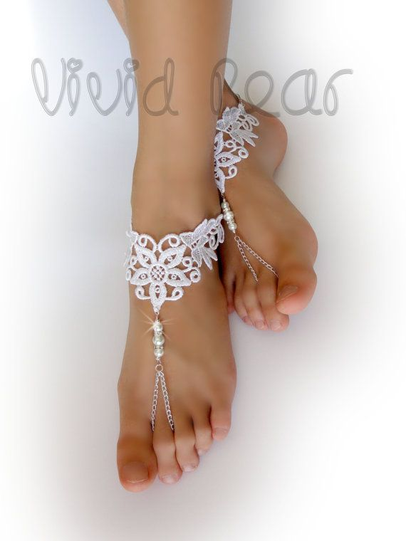 2pcs Foot Jewelry Beads Beaded Beach Wedding Bridal Barefoot Sandal Anklet Chain