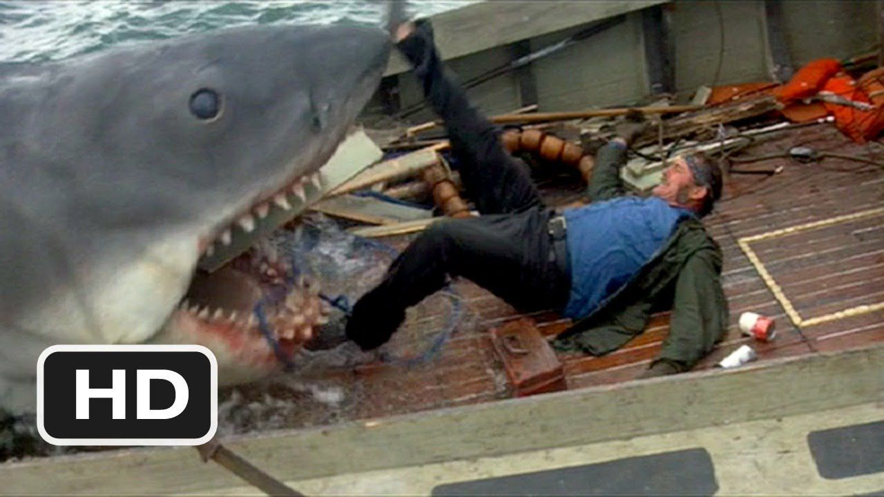 Quint Is Devoured Jaws 9 10 Movie Clip 1975 Hd Jaws Movie Shark Jaws Film