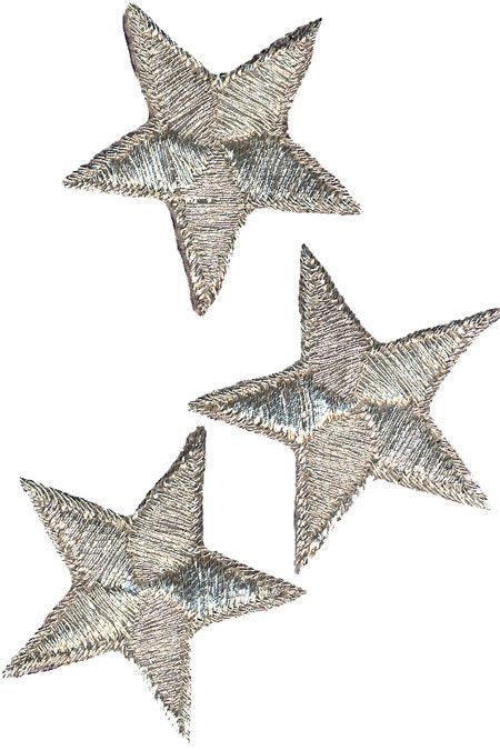 Wrights Iron-On Appliques Silver Metallic Stars