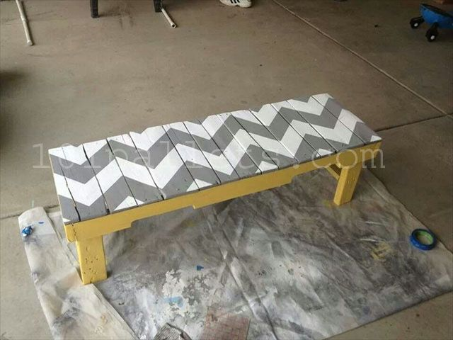 Inexpensive Benches Made Of Pallets 101 Pallets Pallet Diy Diy Pallet Projects Wooden Diy