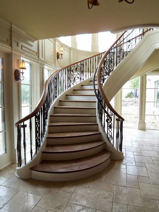35+ Fancy curved staircase design ideas