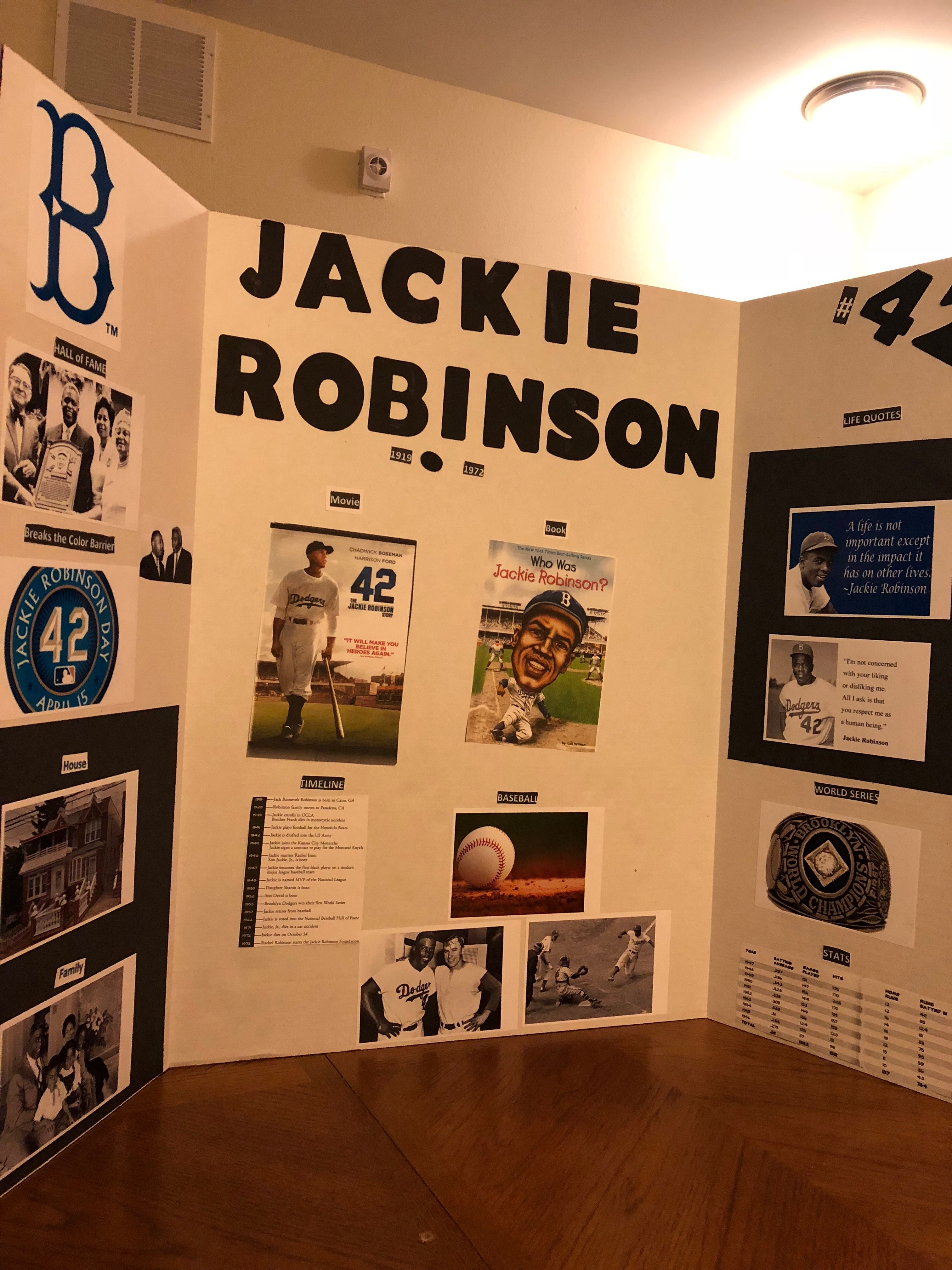 Jackie Robinson 5th Grade Science Project 5th Grade Wax