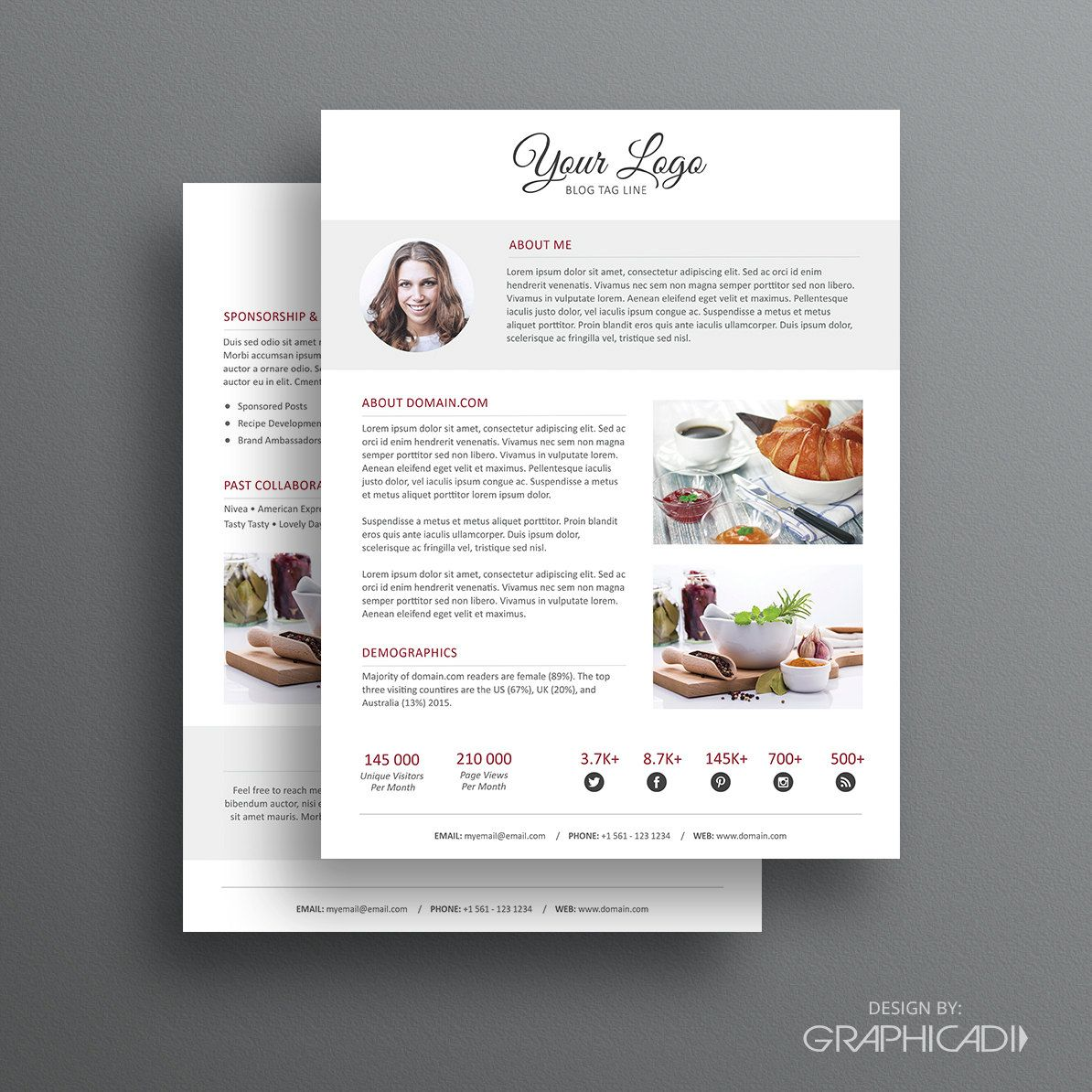 Press Kit Template    Page Press Kit Template  Ad Rate Sheet