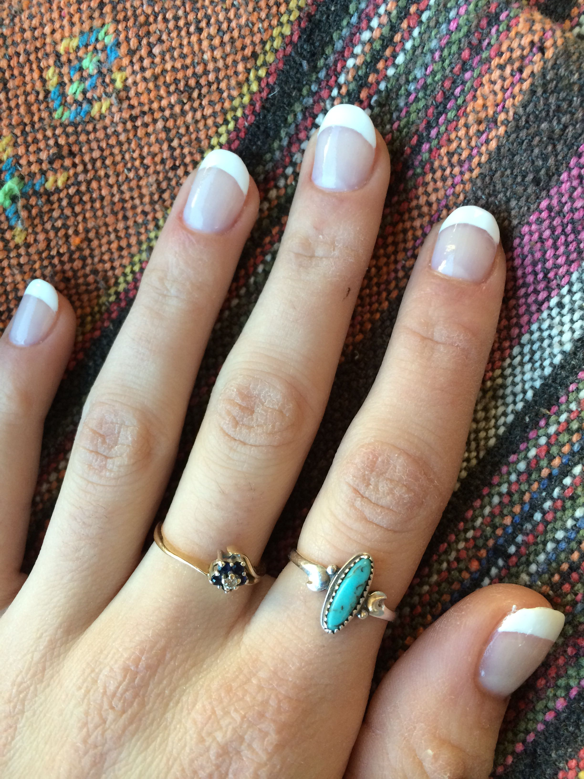 Short, round, French manicure acrylics   Neat Nails   Pinterest ...