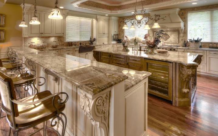 Fancy kitchen design.