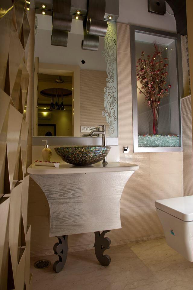 Modern Contemporary Bathroom by madalsa soni, Residential ...