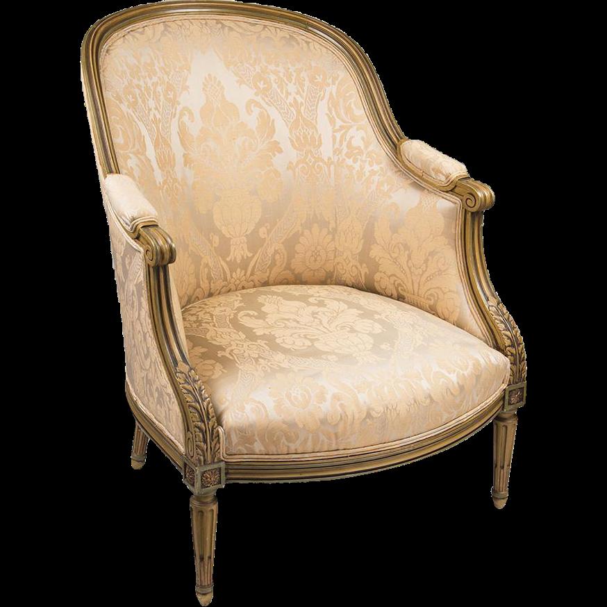 Belle Epoque Louis XVI Bergere en Gondole Chair With Painted FrameBelle Epoque Louis XVI Bergere en Gondole Chair With Painted Frame  . Louis Xvi Style Furniture For Sale. Home Design Ideas