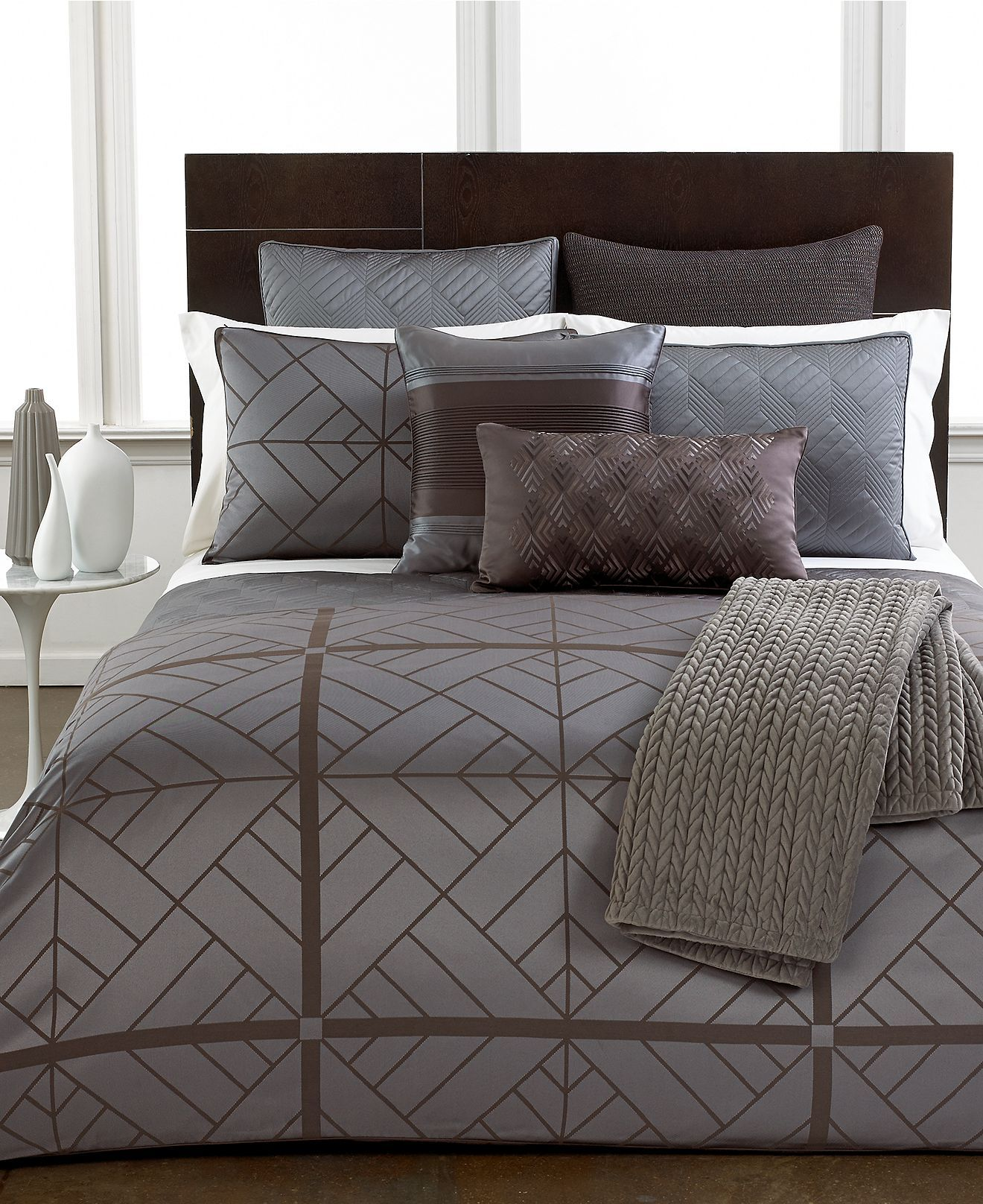 Closeout hotel collection parquet bedding collection