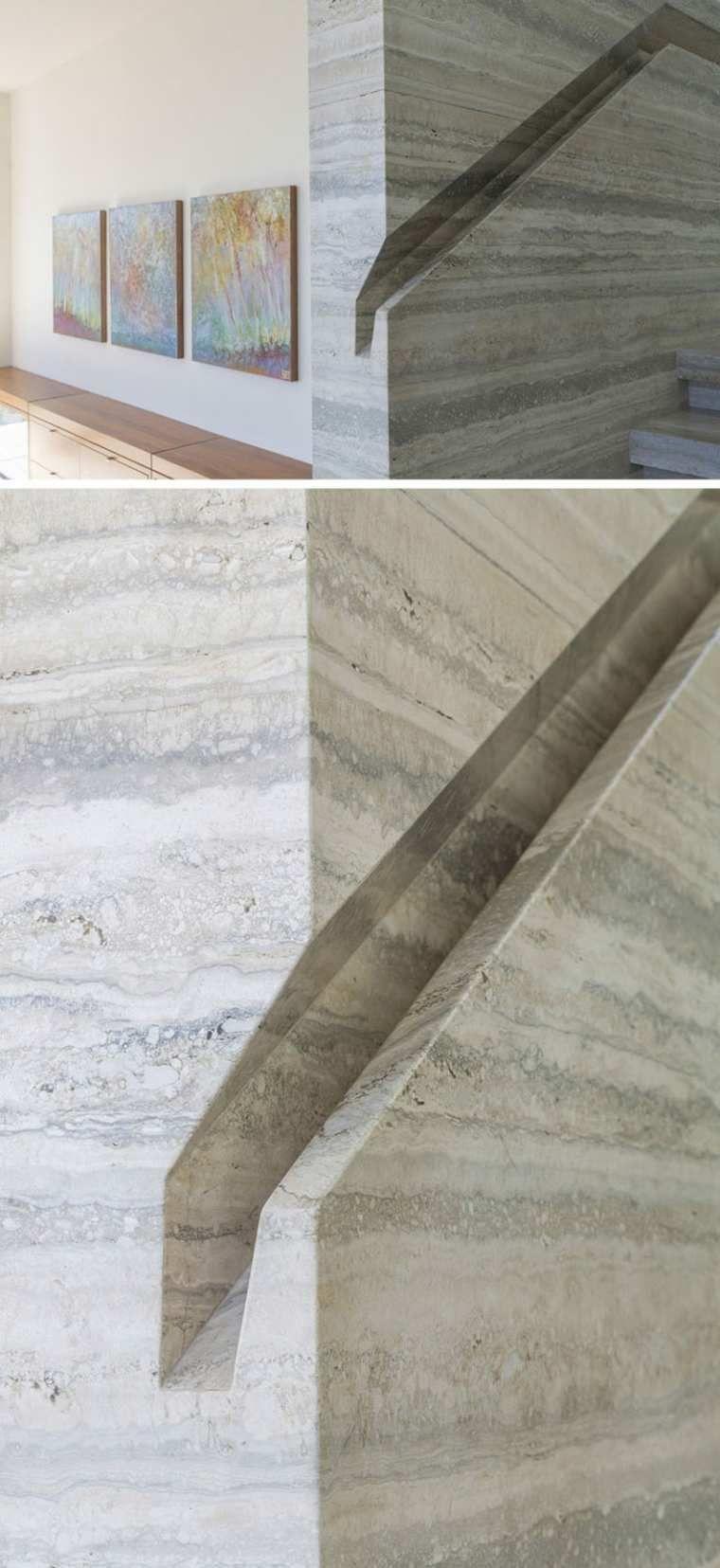Neueste innenarchitektur handlauf integrierte treppe des modernen stils in