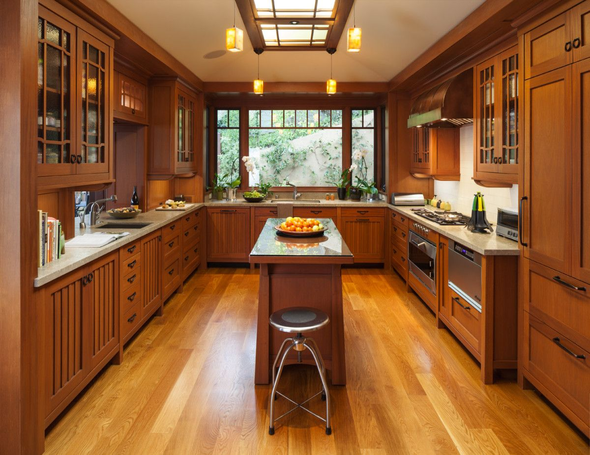 The Profound Delight In Personal Expression Mission Style Kitchen Cabinets Bungalow Kitchen Kitchen Remodel Small
