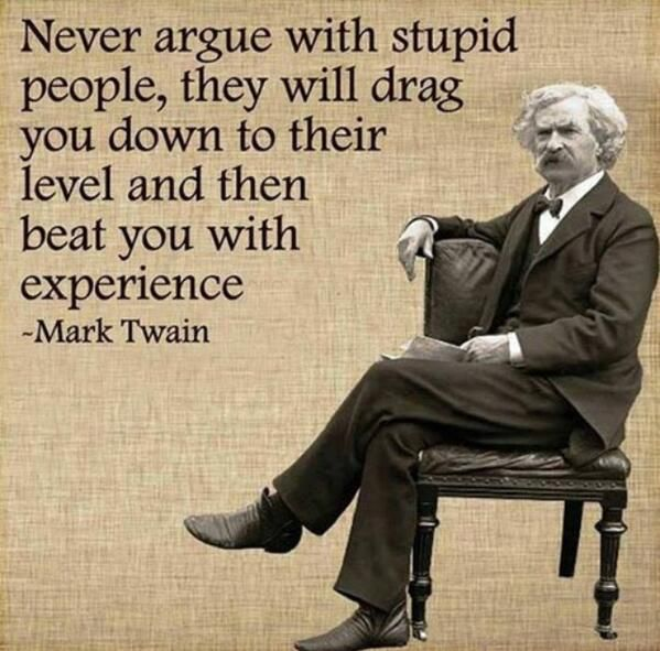 Twitter Search Never Argue With Stupid People Mark Twain Quotes Stupid People Inspirational Quotes