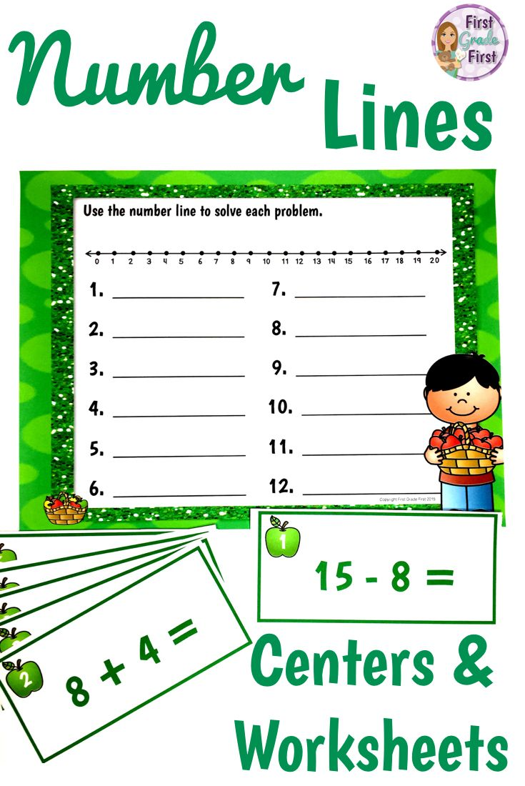 Number Line Addition and Subtraction | Worksheets, Math and ...