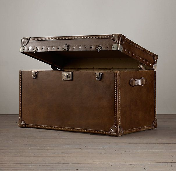 mayfair steamer trunk tall coffee table   junk in the trunk