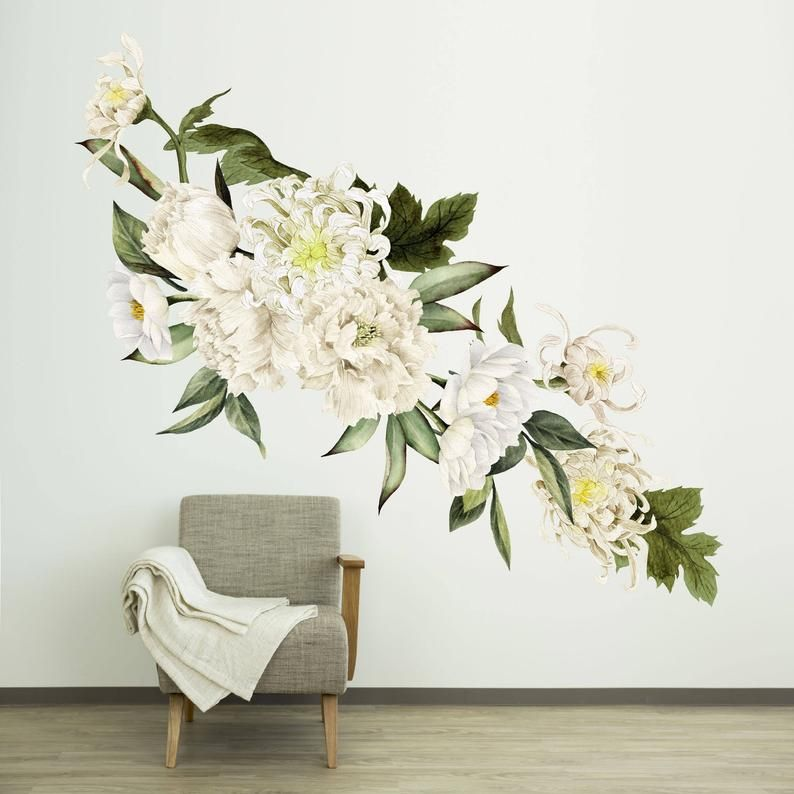 Peel And Stick Wallpaper Mural Decals Individual Large Flowers
