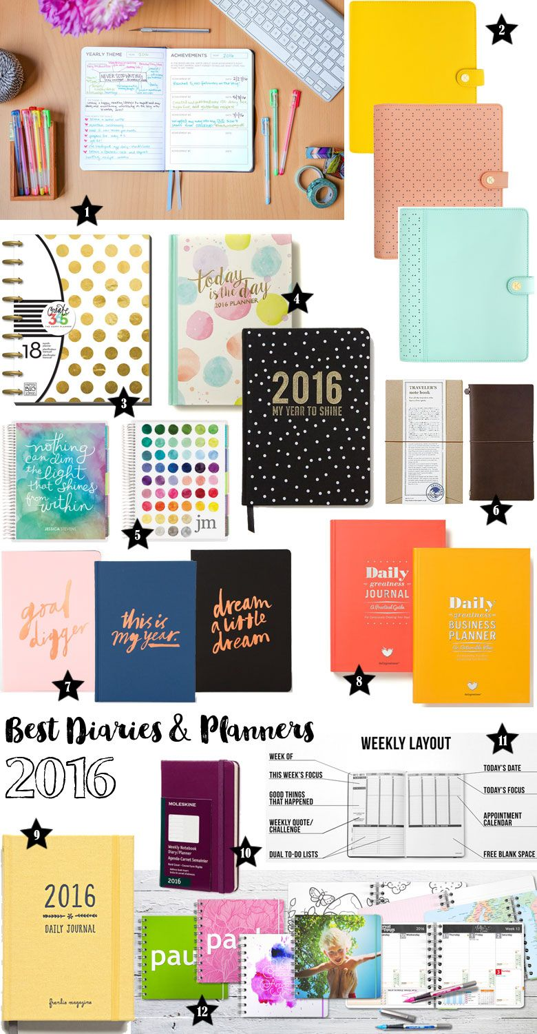 Best diaries and planners for 2016 planners anonymous for Planners anonymous