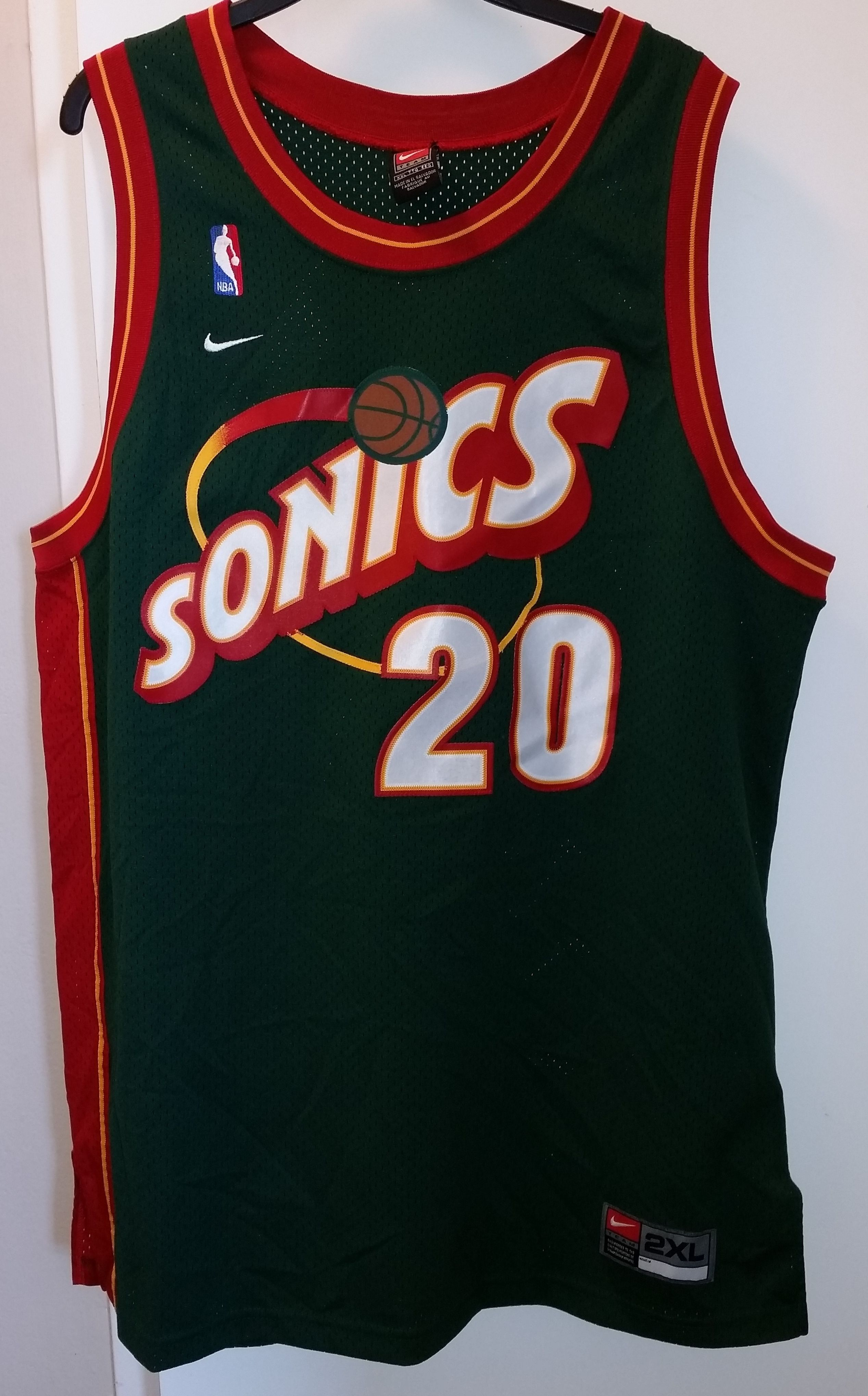 00c644c493db Vintage 90s Nike NBA Seattle Supersonics Gary Payton Jersey
