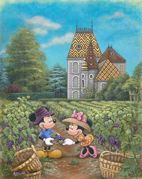 Annick Biaudet - Mickey Mouse - Grapes in Burgundy - world-wide-art.com