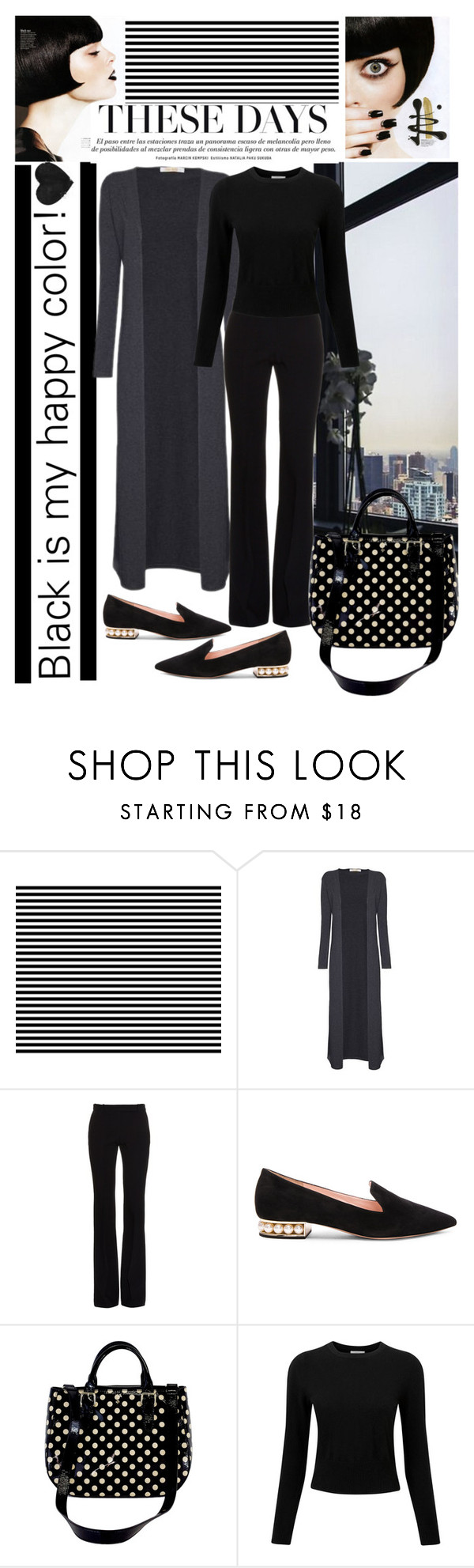 """Untitled #156"" by imajaa ❤ liked on Polyvore featuring Alexander McQueen, Nicholas Kirkwood, Kate Spade, Pure Collection and black"