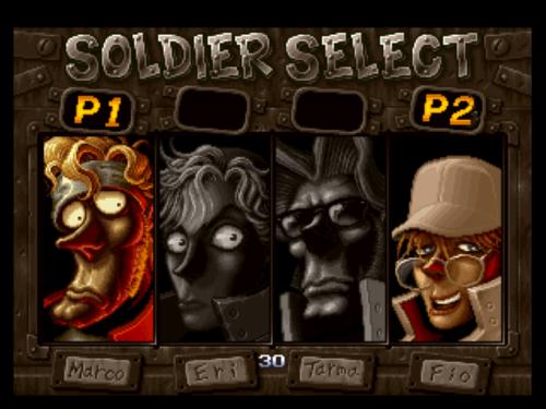 Resultado de imagem para metal slug 2 character select