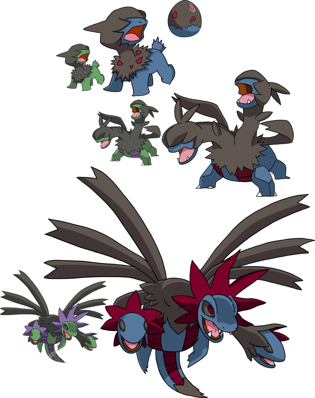 633, 634 and 634 - Deino Evolutionary Line by Tails19950 on ...