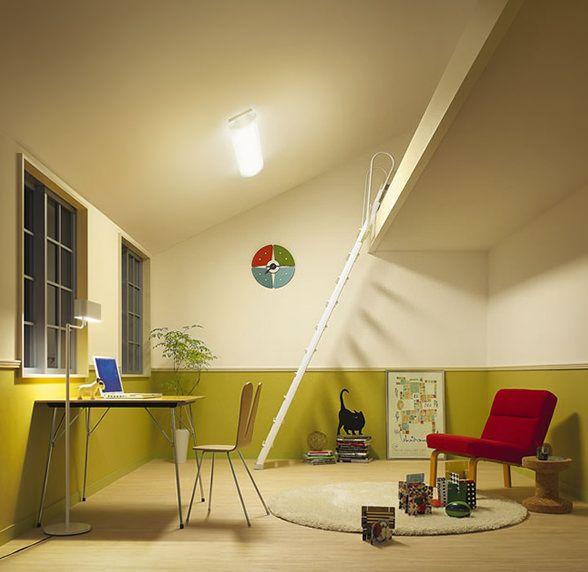 大光電機 傾斜天井対応リモコン式シーリングライト 傾斜天井 実例