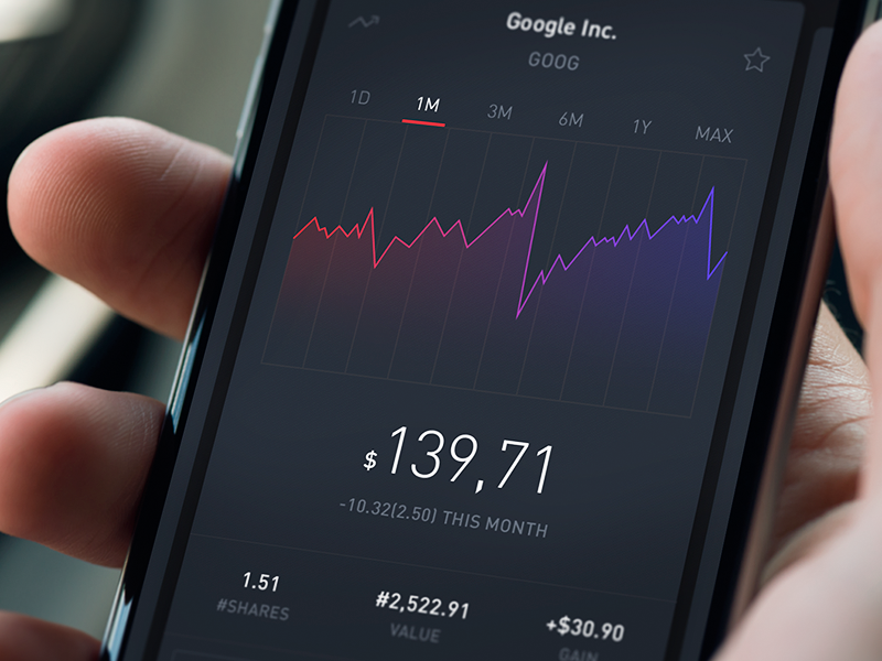 Fidelity Stock Quotes Enchanting Stock App  Mockup App And App Design