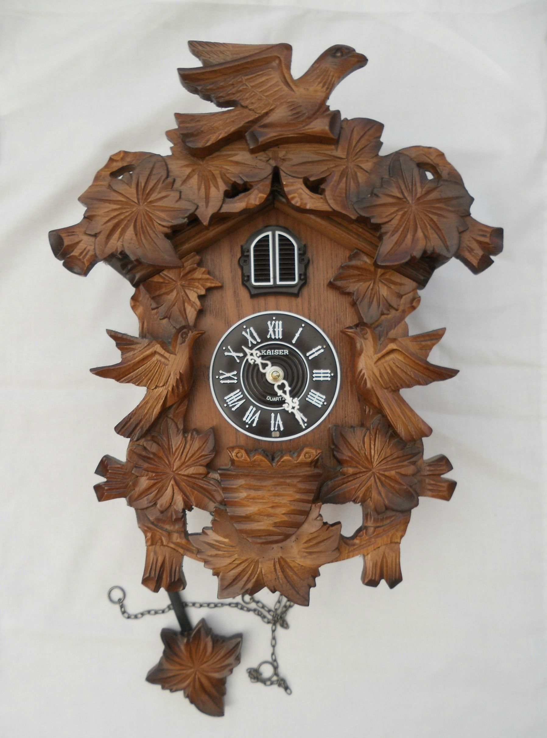Kaiser German Carved Wooden Cuckoo Clock Case Sold On My Ebay