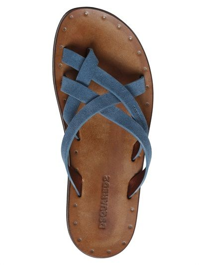 dsquared2 suede leather sandals luisaviaroma luxury