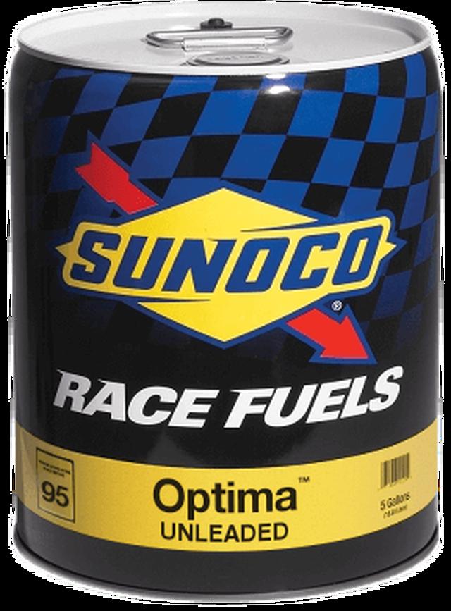 Sunoco Optima 95 Octane Race Fuel 5 Gallon Pail 5 Gallon Pail Racing Fuel Additives