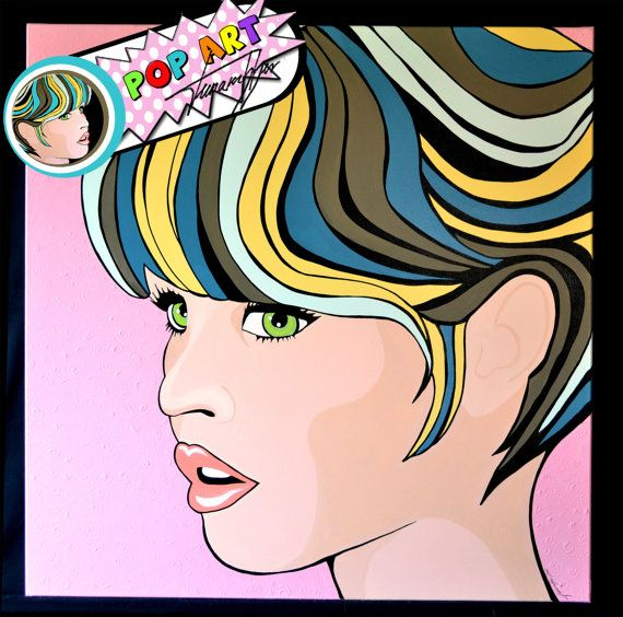 This is more pop art but it's a comic inspired portrait.  Amazing!