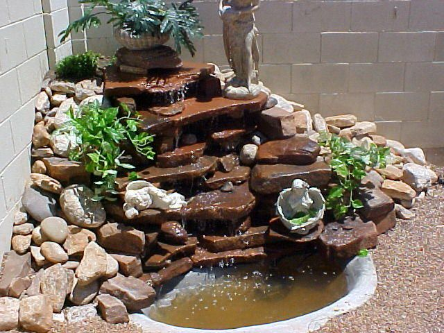 Not sure what our garden fountain will look like but i for Build your own waterfall pond