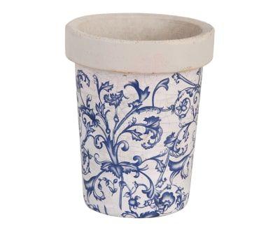 Pot De Fleur Ceramique Bleu Et Blanc H16 Outdoor2 Pinterest
