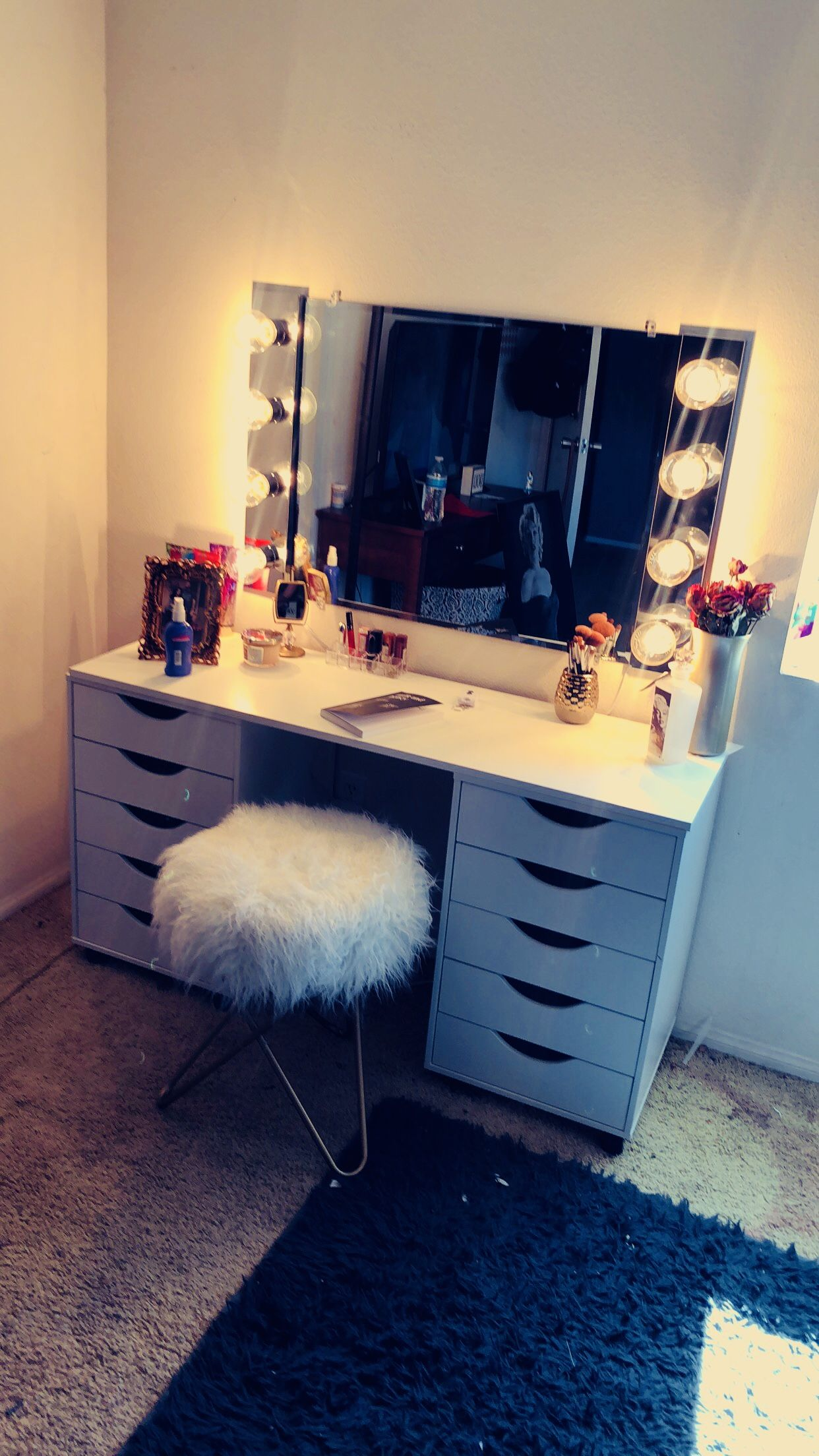 Diy Ikea Vanity Dupe Mirror Lowes Lights Amazon Drawers Michaels Table Top Lowes Chair Ross Ikea Vanity Diy Makeup Vanity Ikea Makeup Vanity
