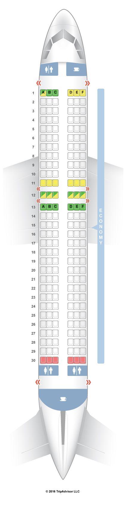 Seatguru Seat Map Jetstar Airbus A320 320 Seatguru Ryanair