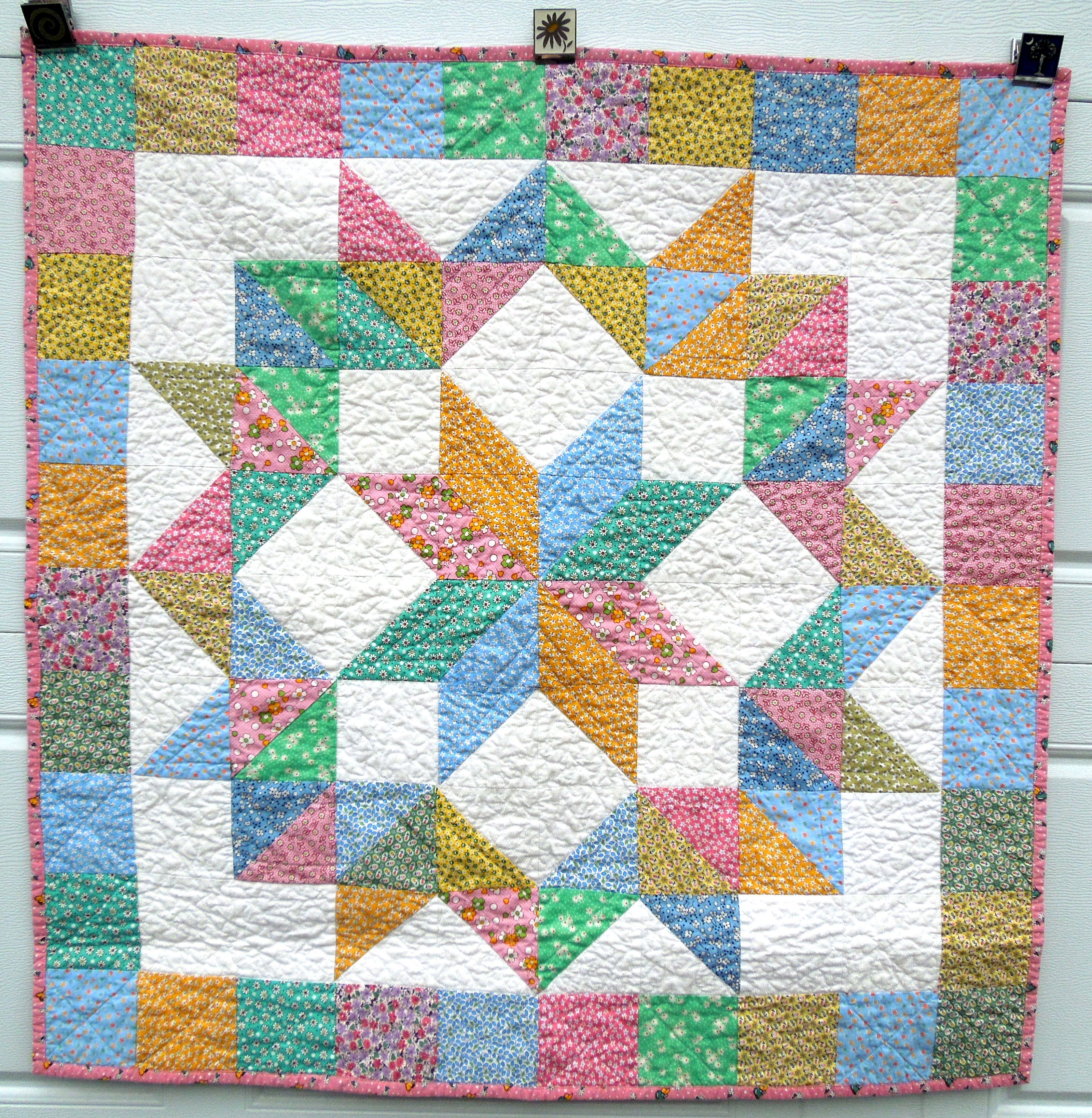 Carpenter Star Baby Quilt Winter 2013 Colorful Quilts Quilts Medallion Quilt